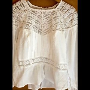 Free People gorgeous cotton blouse top S